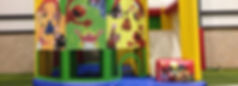 Seseame Street Bouncy Castle or bounce house combo with slide