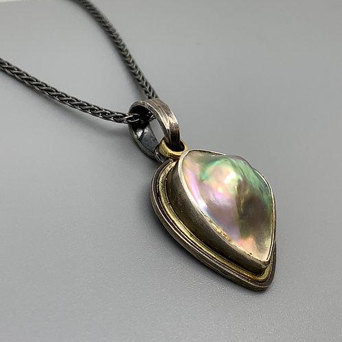 Jan Gordon Abalone Mabe Pearl Necklace