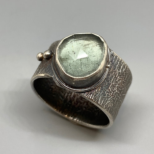Jan Gordon Rose Cut Moss Aqua Ring