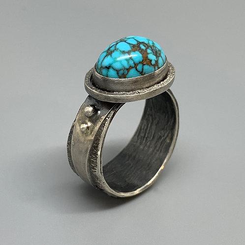Jan Gordon Spiderweb Turquoise Ring