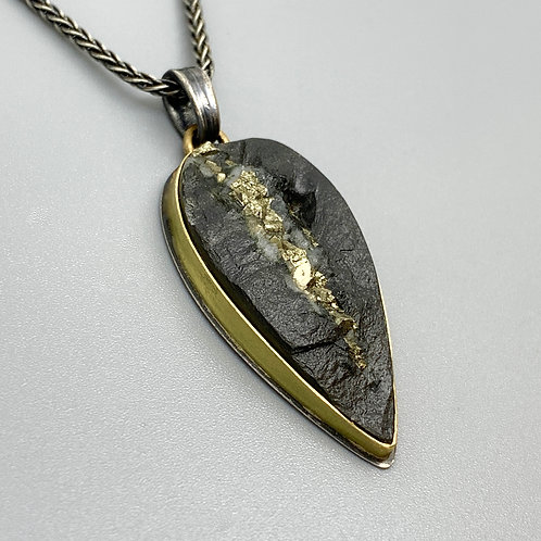 Jan Gordon Slate with Pyrite Necklace