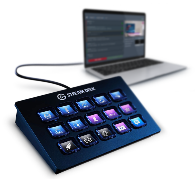 Stream deck and a computer