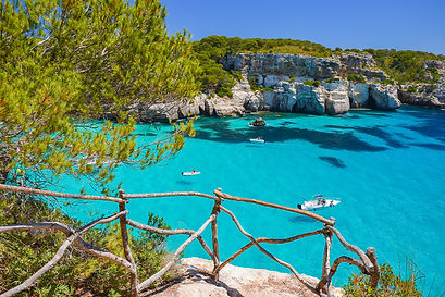 View of beautiful bay of Cala Macarellet