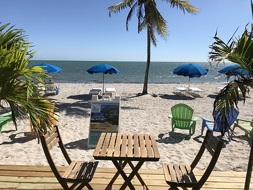 BEACH LOUNGE 1/2 Day with 1 hour free Kayak or Paddleboard