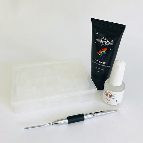 Polynail (Polygel) complete starter kit with 24W lamp
