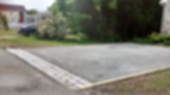 Stone Driveway Install with Cobblestone Edge