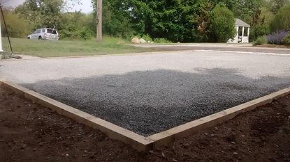 Stone Driveway Install
