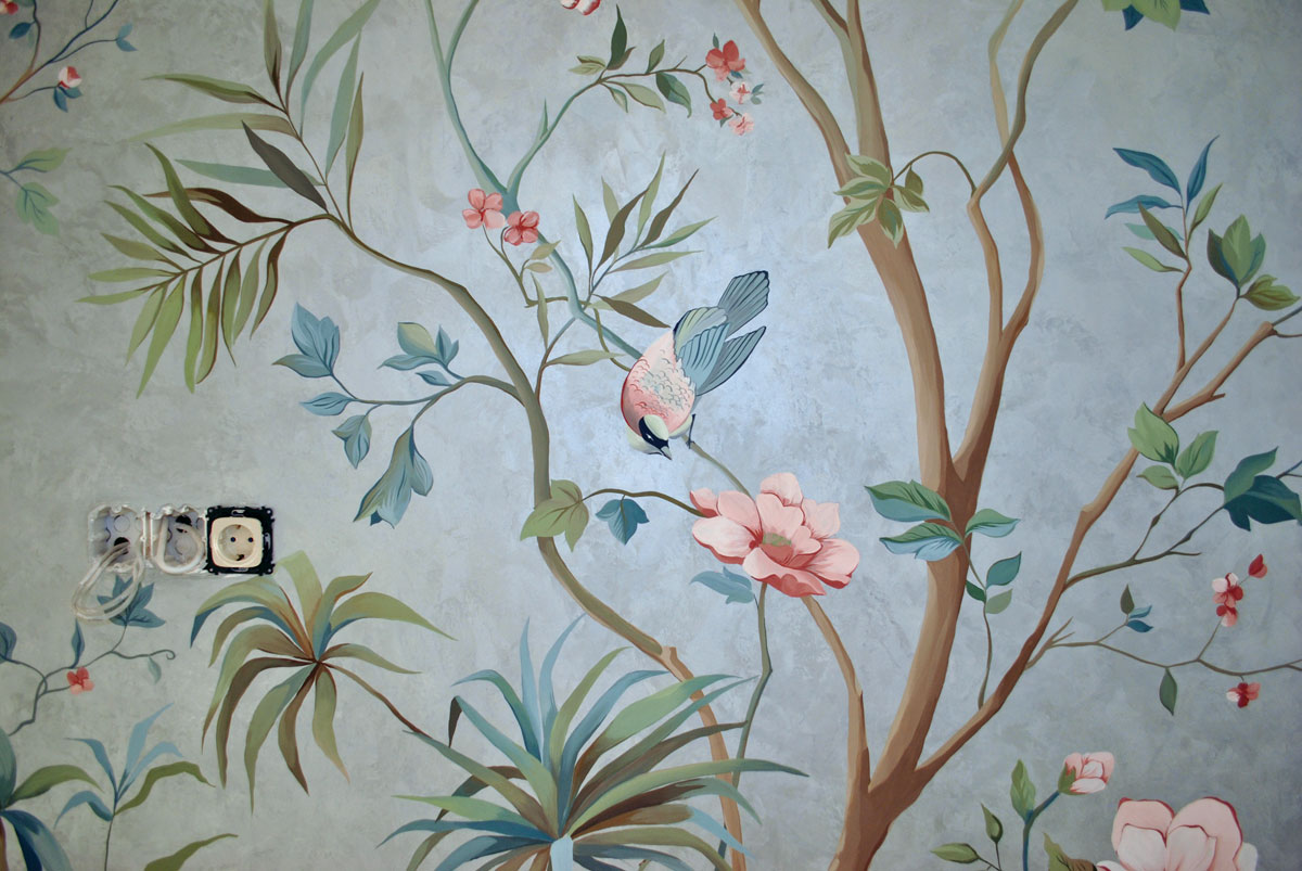 Роспись стен в Астане