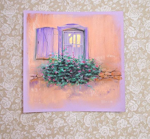 """""""Окно в Прованс"""" картина пастелью"""
