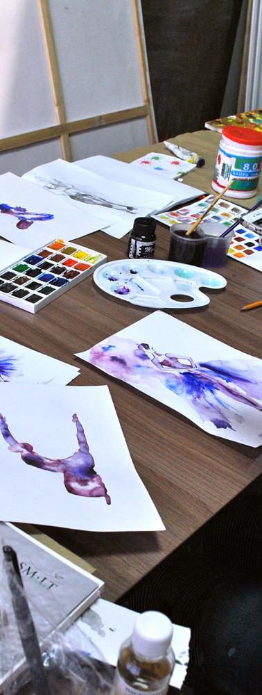 Рисование для взрослых в студии Марилу лис. Так проходит обучение