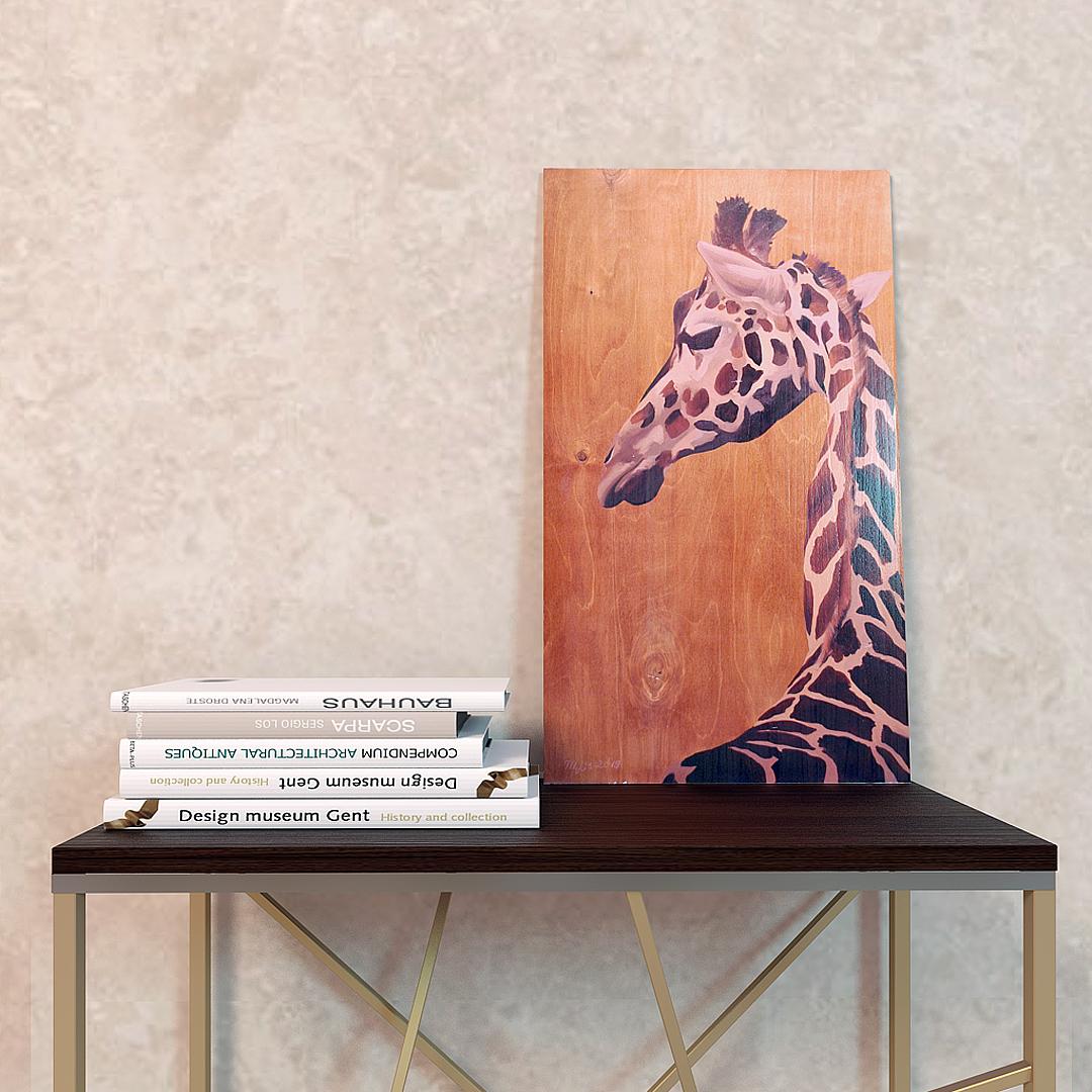 """""""Жираф"""" картина на дереве"""