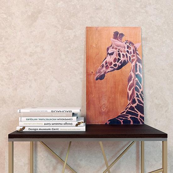 """""""Жираф""""картина на дереве"""