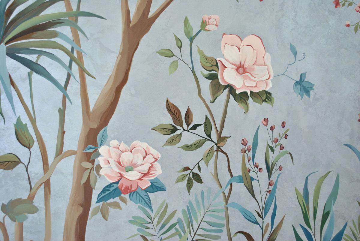 Фрагмент декоративной росписи