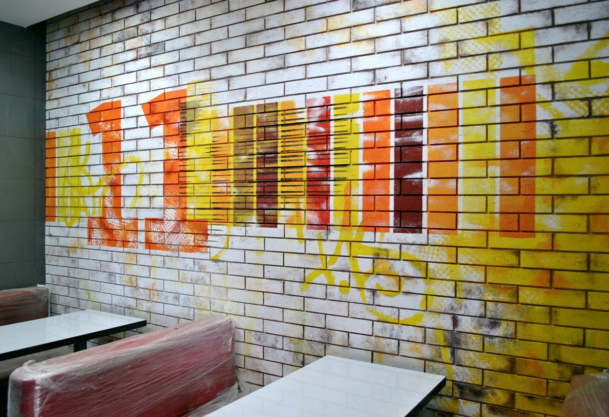 Декорирование кирпичной стены