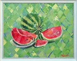 Картина маслом «Натюрморт с арбузом»