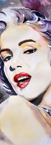 Акврельная Мэрилин Монро. Научись рисовать акварелью в студии Марилу Лис