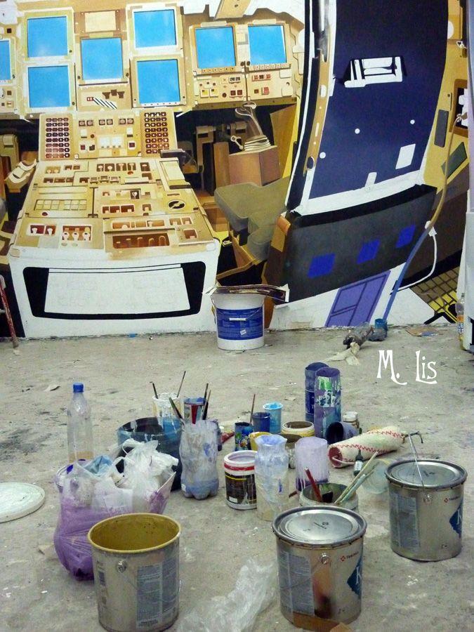 Процесс создания росписи