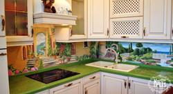 Роспись кухонного фартука