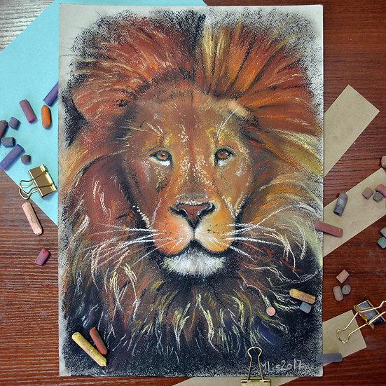 """""""Lion King"""" картина пастелью"""