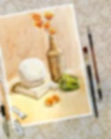Натюрморт акварелью. Онлайн курсы рисоания. Видеоуроки рисования