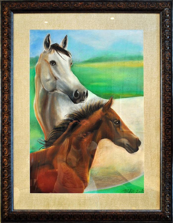 «Мама» картина пастелью