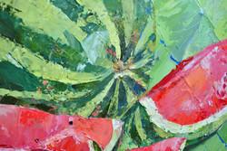 Фрагмент картины «Натюрморт с арбузо