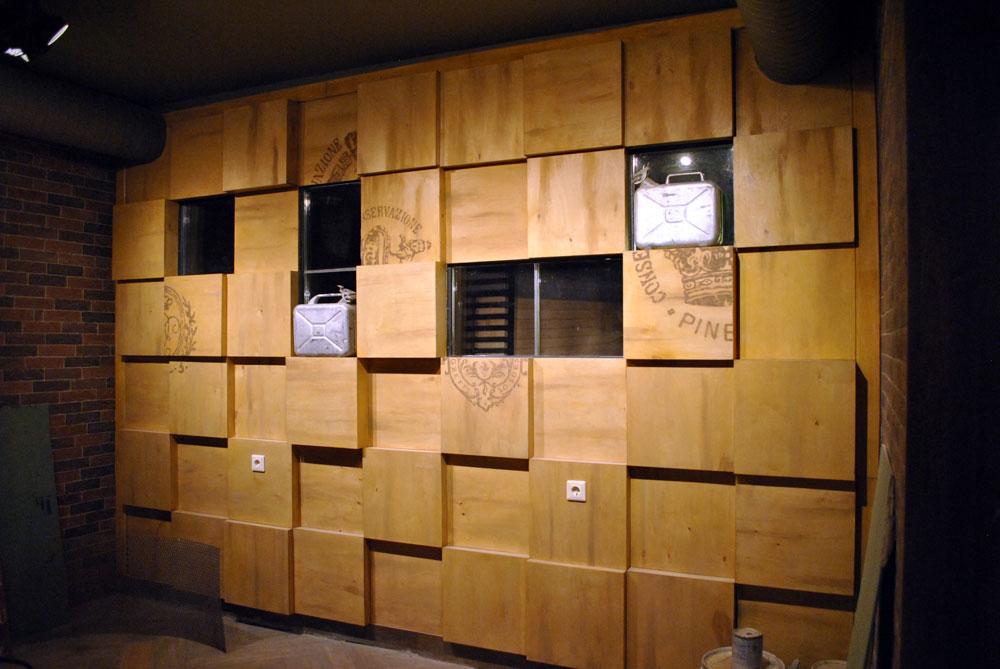 Декорирование кубической стены
