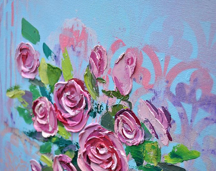 Flying roses