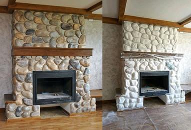 Декорирование камина до и после