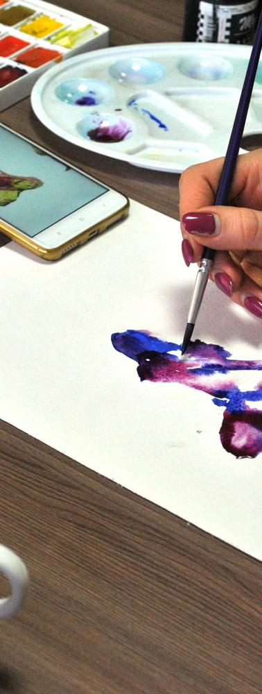 Как научиться рисовать акварелью? Очень просто -  в студии художника Марилу Лис можно научиться любой технике рисования