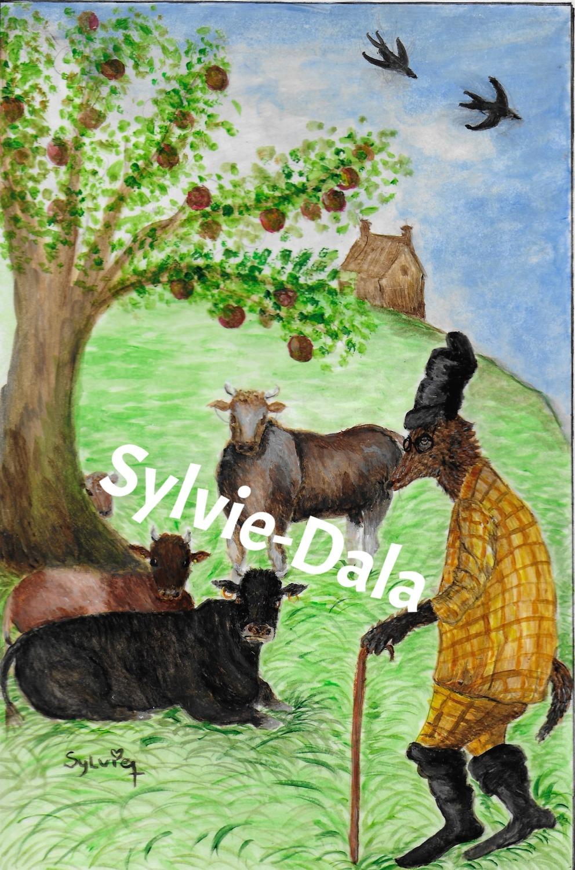 Le loup, les vaches et le veau