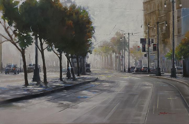 Shining Path 24HX36W Oil on Canvas 2021