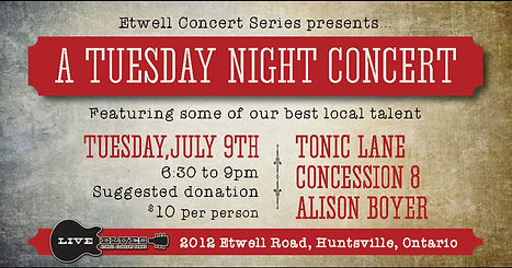 Etwell Concert Series Tuesday NIght Concert