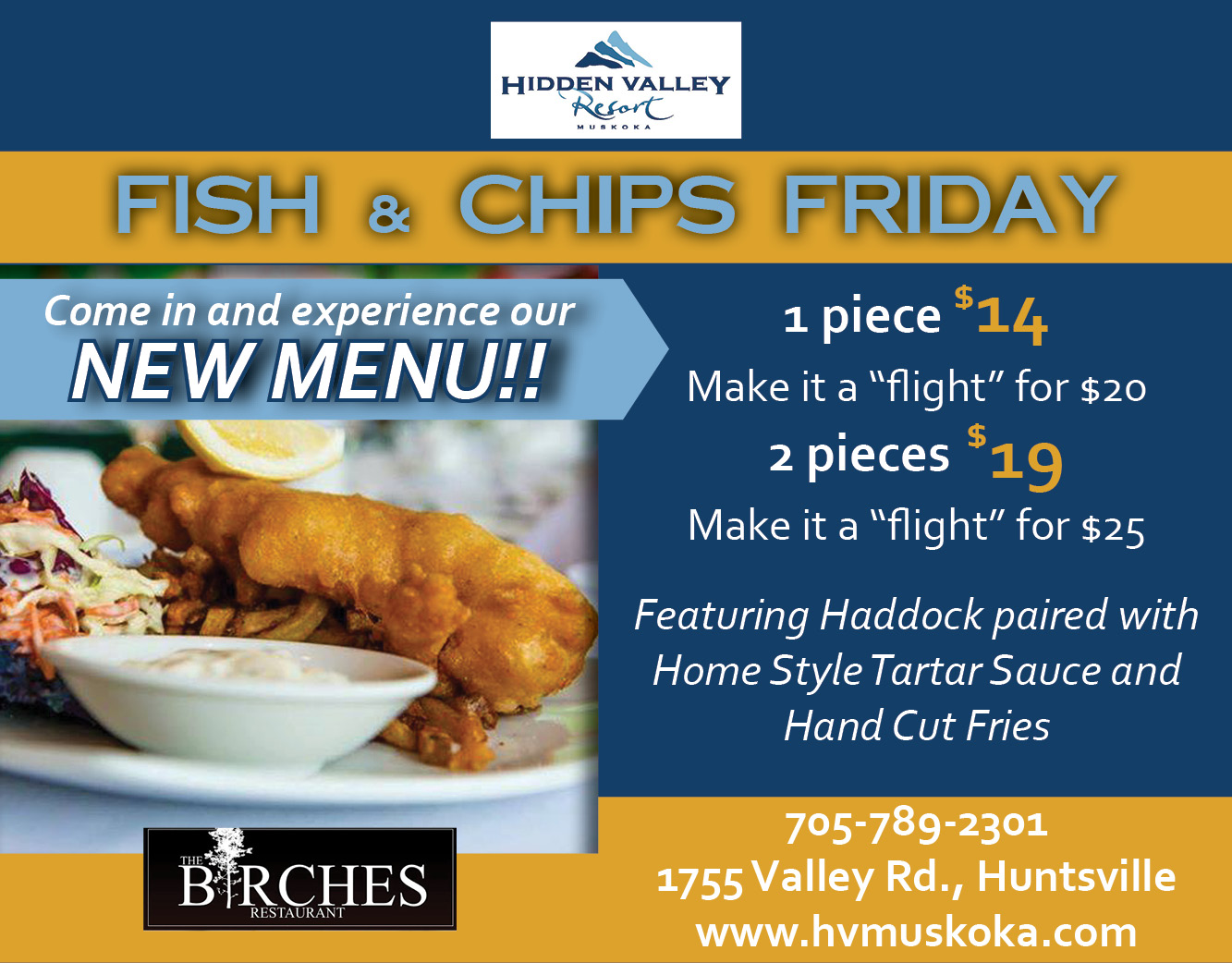 Hidden Valley new menu Fish  Chips