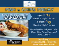 Hidden Valley new menu Fish  Chips