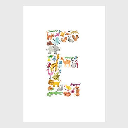 Animal Alphabet: E