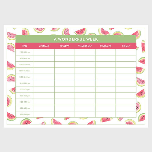Weekly Planner - Melons