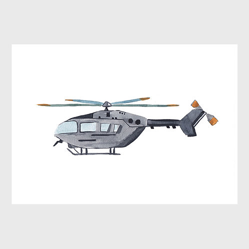Grey Helicopter