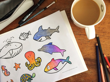 Under the Sea Colouring Page