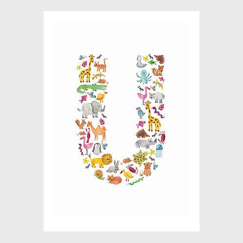 Animal Alphabet: U
