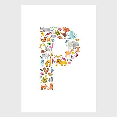 Animal Alphabet: P