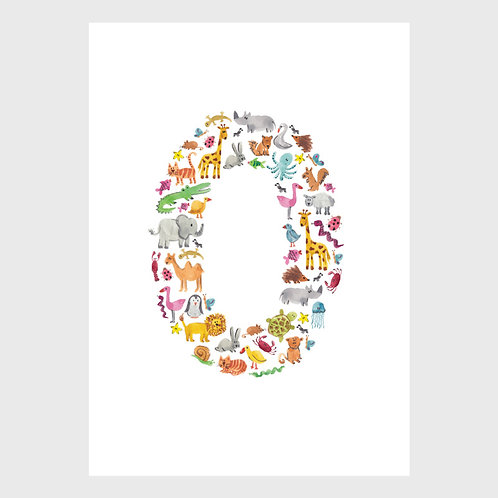 Animal Alphabet: O