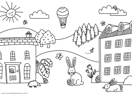Easter Colouring & Puppet DIY