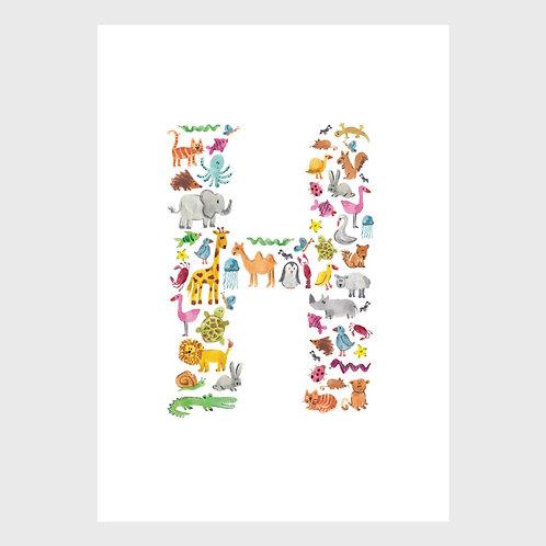Animal Alphabet: H