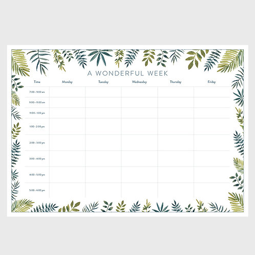 Weekly Planner - Leafy