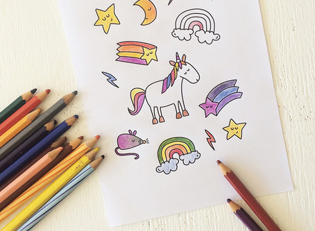 Unicorn Card (to colour in)