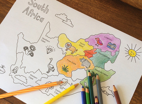 South African Provinces Colouring Page