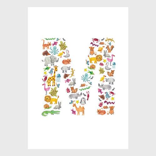 Animal Alphabet: M