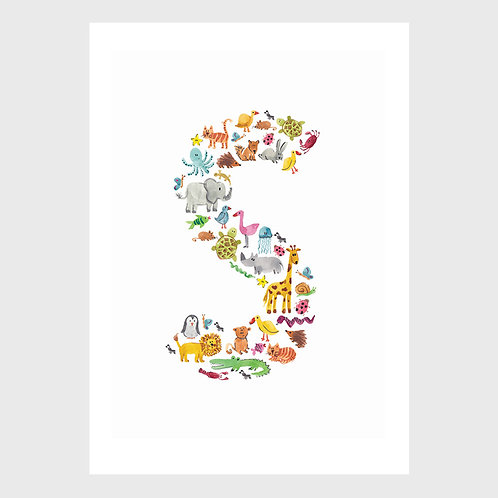 Animal Alphabet: S