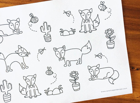 The Fox Colouring Page